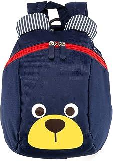 Mochila para niños,TEAMEN® Anti Pérdida de niños Mochila, Mini Oso Escuela Mochila,para bebé niño niña pequeños 1 – 3 AñOS(Azul Oscuro