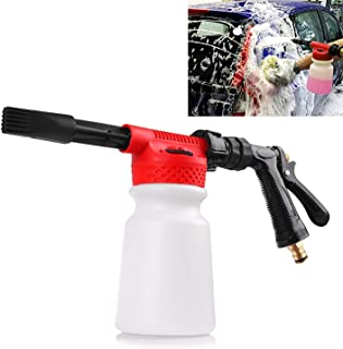 Houkiper Car Wash Foam Gun Soap,Car Foam Blaster Foam Sprayer Cleaning Gun Bottle,900ml Water Foam Shampoo Gun for Van Motorcycle Vehicle,Garden, Leak Free Connection