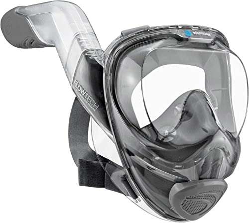 WildHorn Outfitters Seaview 180° V2 Full Face Snorkel Mask with FLOWTECH Advanced Breathing System - Allows for A Nat...
