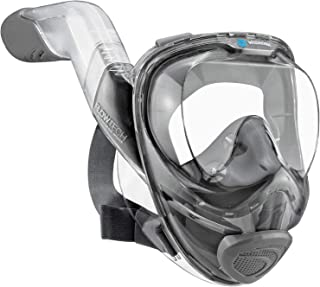 WildHorn Outfitters Seaview 180° V2 Full Face Snorkel Mask with FLOWTECH Advanced Breathing System - Allows for A Natural ...