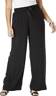 Women's Plus Size Drape Wide-Leg Pant