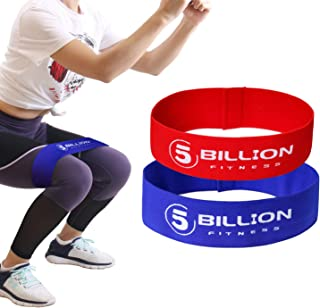 5BILLION Fabric Resistance Bands Hip Exercise Bands - for Booty, Thigh & Glutes - Soft & Non-Slip Design Loop Set