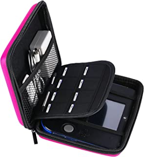 AKWOX Carrying Case for Nintendo 2DS with 8 Game Holders (Pink)