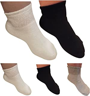 Diabetic Ankle Socks for Men and Women by AHG - Wide Quarter Socks 6 Pair