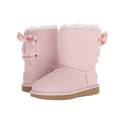 UGG Kids Customizable Bailey Bow II (Little Kid/Big Kid) (Seashell Pink) Girls Shoes