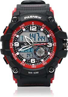 Teenagers Sport Watch | Analog Quartz & Digital Display | Dual Time Zone | Water Resistant