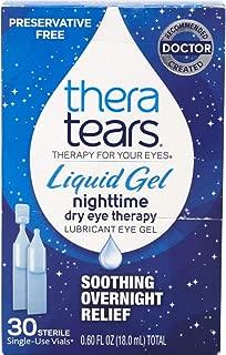 Thera Tears Liquid Gel Nighttime Dry Eye Therapy, 30 Single-Use Vials