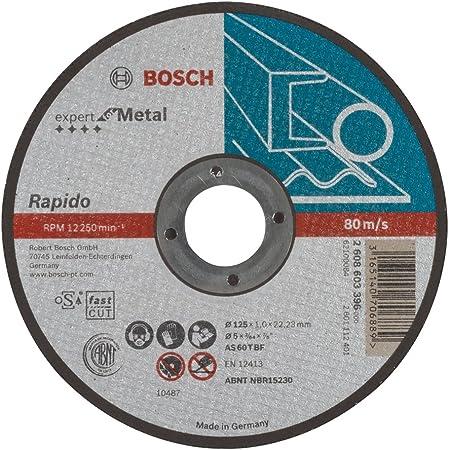 Bosch 2608603396 Disque à tronçonner à moyeu plat expert for metal rapido AS 60 T BF 125 mm 1,0 mm