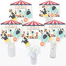 Big Dot of Happiness Carnival - Cirque du Soiree - Baby Shower or Birthday Party Centerpiece Sticks - Table Toppers - Set of 15