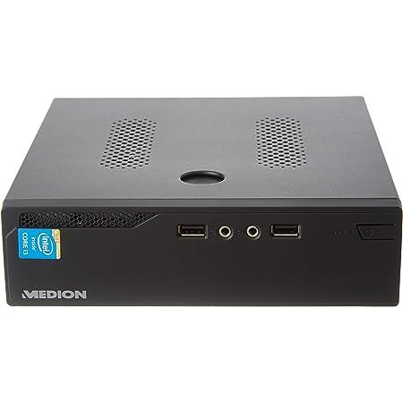 Medion S22003 MD34639 - MiniPC Ordenador de Sobremesa (Intel Core i3-5005U, 8GB RAM, 512GB SSD, Intel HD Graphics, sin Sistema Operativo) Negro