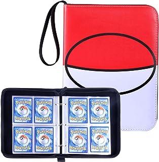 Famard 4-Pocket Binder for Pokemon Cards, Trading Card Binder Holds Up to 400 Standard Size Cards, Portable Carrying Case ...