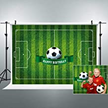 Riyidecor Happy Birthday Party Football Theme Backdrop Soccer Field Boy Kid Baby Shower Celebration 7x5 Feet Green Photography Backgrounds Home Decor Photo Shoot Studio Props Banner Vinyl Cloth