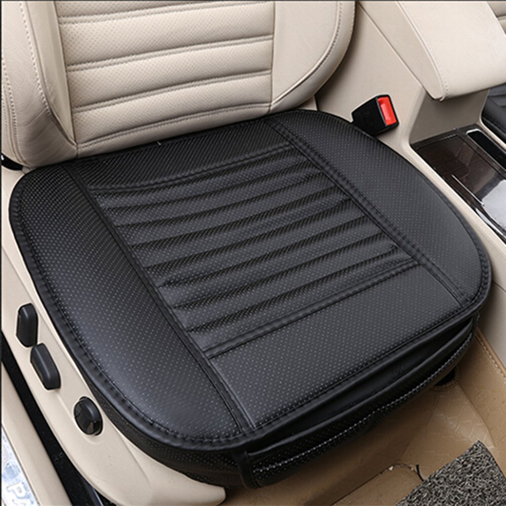 CONMING Breathable Charcoal Car Seat Cushion Car Interior Seat PU Leather and Bamboo Charcoal Cover Pad Mat All Seasons for Auto Car Supplies Car Chair 19.7 Car Seat Cushions W L x 20.5