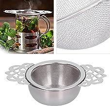 Tefilter, utsökt te sil dubbelt vackert för att göra rent te för familjen(Silver)