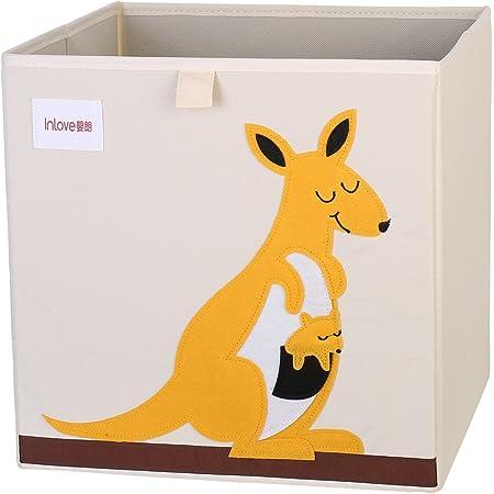 Boîte de rangement jouets de animé cube Toile Organisateur pliable pour enfants par ELLEMOI (Kangourou)
