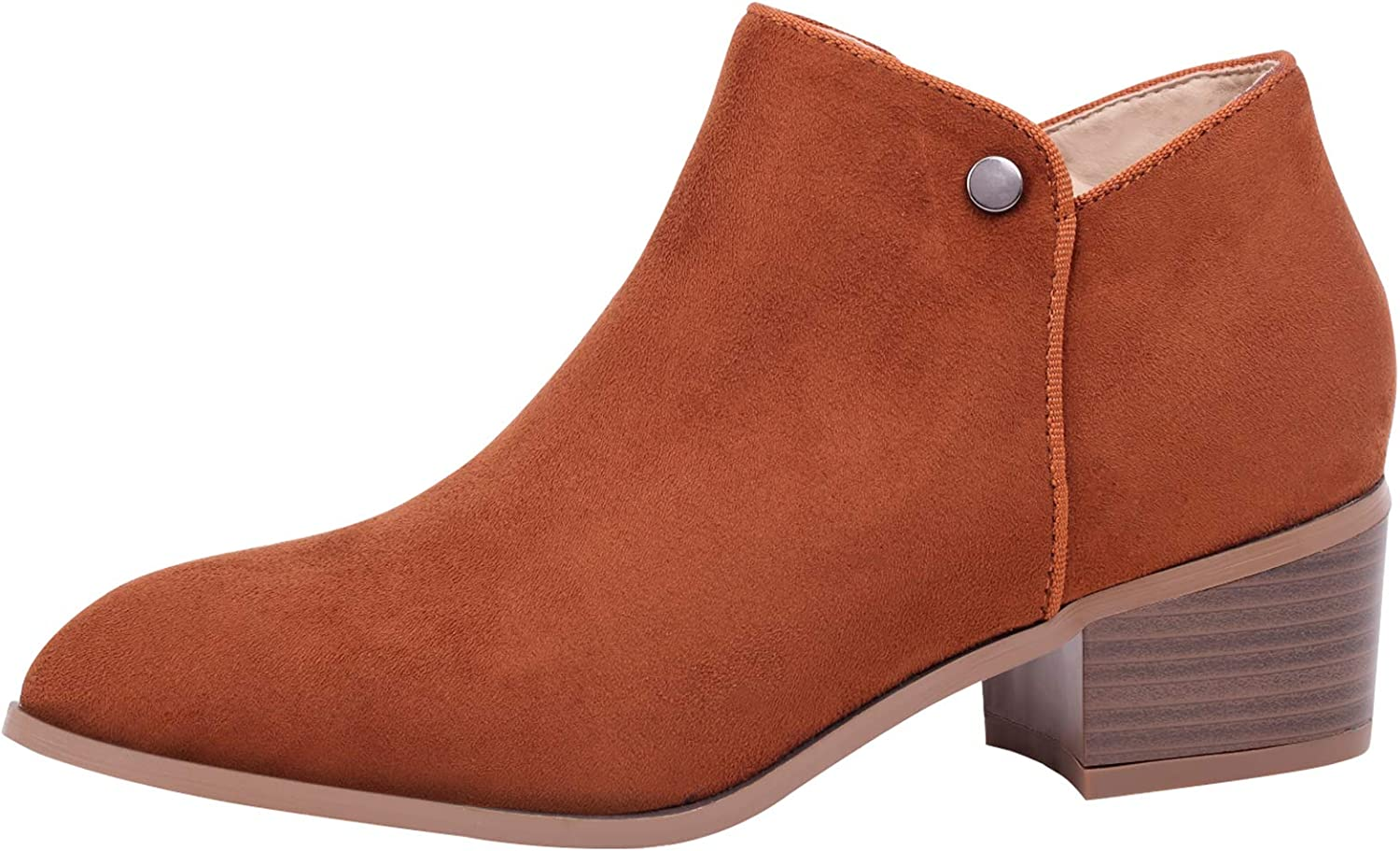 Sofree Women's Western Casual Low Heel Ankle Boots