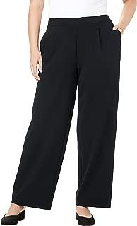 Jessica London Women's Plus Size Signature Knit Crepe Trouser