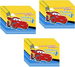 Disney Cars 1st Birthday Champ Party Invitations - 24 Pieces