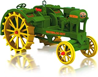 Hallmark 1918 Waterloo Boy Green and Yellow Tractor Compatible with All John Deere Regular Keepsake Ornaments