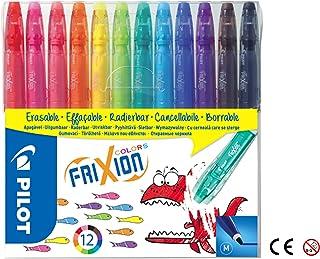 Pilot Frixion Colors Erasable Fibre Tip Colouring Pen - Assorted, Pack of 12