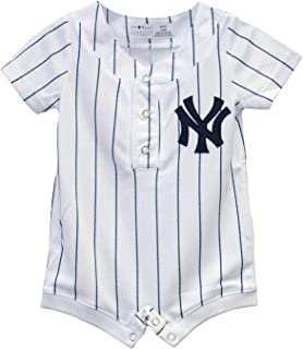 a4c6f841f9e New York Yankees White Infants White Cool Base Home Romper Jersey