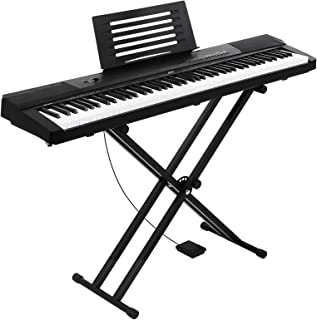 ALPHA Keyboard Piano 88-key Electric Sensitive Touch Full-sized w/ Adjustable Stand & Music Sheet Holder Kids Adult Learne...