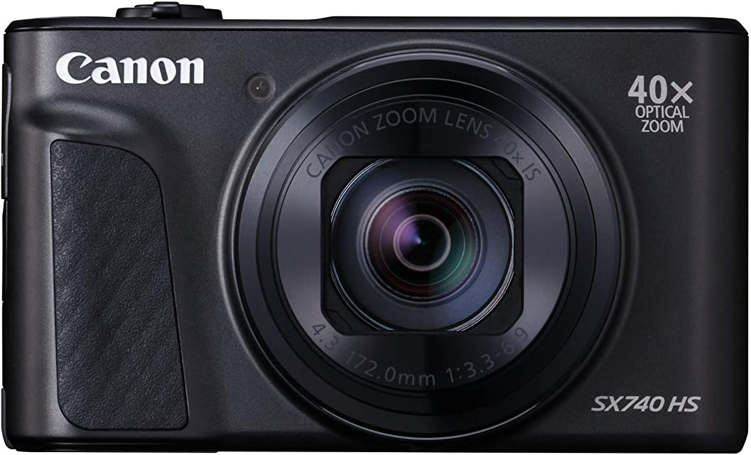 Canon PowerShot SX740 HS - Cámara compacta de 20.3 MP (40x Zoom óptico 4K UHD DIGIC 8 5 Ejes LCD desplegable 10 fps Bluetooth WiFi) Negro