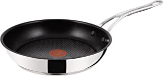 Tefal Jamie Oliver Stainless Steel Premium Series Non-Stick Frypan-24cm, 24cm