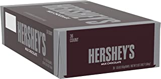 HERSHEY'S Milk Chocolate Candy Bars, bulk candy, 1.55-oz. Bars, 36 Count