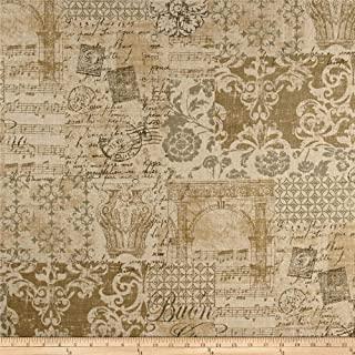 WAVERLY Documented Linen Fabric by The Yard, Vermeil