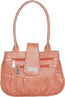 Janta PU Leather Women Shoulder Bag (Orange-3399)
