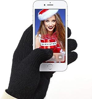 comprar comparacion Gloviator® Guantes Táctiles para Smartphones y Tablets | Unisex | Color Negro | Suaves y Elásticos | Lavables