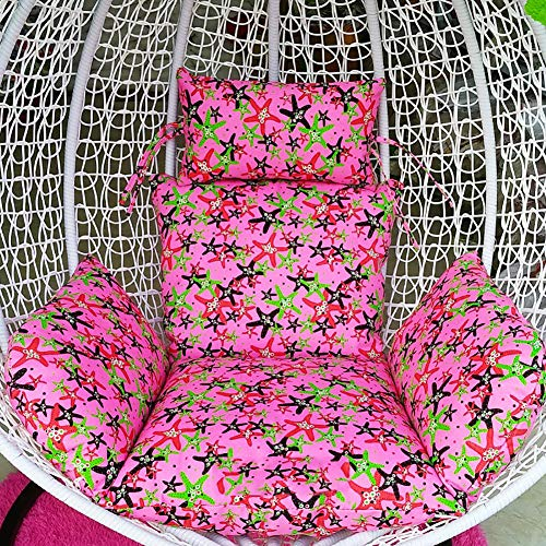 MSM Furniture Swing Hanging Basket Seat Cushion,thick With Zip Removable Chair Back Pp Cotton Chair Pads,egg Nest Chair Cushion L