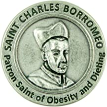 Patron Saint of Obesity and Dieting St Charles Borromeo Pocket Token with Prayer Back