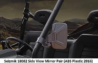 Seizmik 18082 Side View Mirrors ABS Plastic 2016 Model for Yamaha Viking, Can-Am Commander & Maverick, Kubota RTV