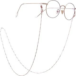 Fashion Eyeglasses Chain Eyeglasses Sunglasses Reading Glasses Beads Strap Holder Chain Keeper Lanyard White Cord for Women Men Girls