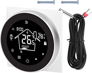 Cuque May Gifts Calibration FunctioPC + ABS Material Temperature Controller, WiFi Thermostat, Touch Operation for Floor He...