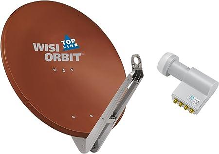 Wisi Satellitenschüssel Set Rotbraun 85 Cm Für Elektronik