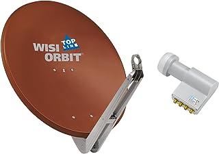 WISI Satellitenschüssel Set rotbraun 85 cm für Multischalter Anlagen oder Kanalaufbereitungen bestehend aus OA 85 I und OC 04 D