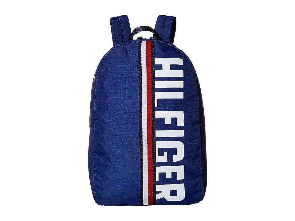 Tommy Hilfiger Knox Hilfiger Rip Stop Nylon Backpack (Cobalt) Backpack Bags