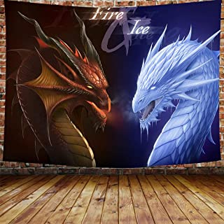 Movie Dragon Backdrop Tapestry for Photography Song of Ice and Fire Game of Thrones Background Wall Hanging,Fans Party Backdrop Tapestry 80×60 Inches DBZY0697