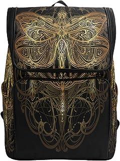 Canvas Backpack Retro Dragonfly Boho Style Large Capacity School Daypack Bookbag Laptop Backpack