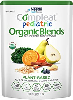 Compleat Pediatric Organic Blends Plant Based, 10.1 fl oz Pouch, 24 Count