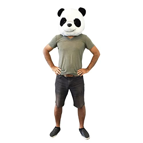 6164497229b CLEVER IDIOTS INC Animal Head Mask - Plush Costume Halloween Parties    Cosplay (Panda)