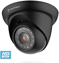 Amcrest UltraHD 2MP Indoor/Outdoor Camera Dome Analog Security Camera IP67 Weatherproof 98ft IR Night Vision, Quadbrid (HD-CVI/TVI/AHD/Analog), 103° Wide Angle, Home Security, Black (AMC2MDM28P-B)