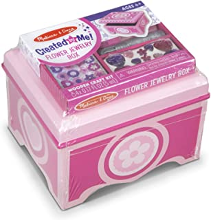 Melissa & Doug Created by Me! Pink Wooden Flower Jewelry Box Craft Kit (Great Gift for Girls and Boys – Best for 4, 5, 6, 7 and 8 Year Olds)