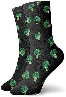 Elsaone, Calcetines con patrón de brócoli Hombres Mujeres Calcetines deportivos deportivos Calcetines cómodos casuales 30 cm / 11.8 pulgadas