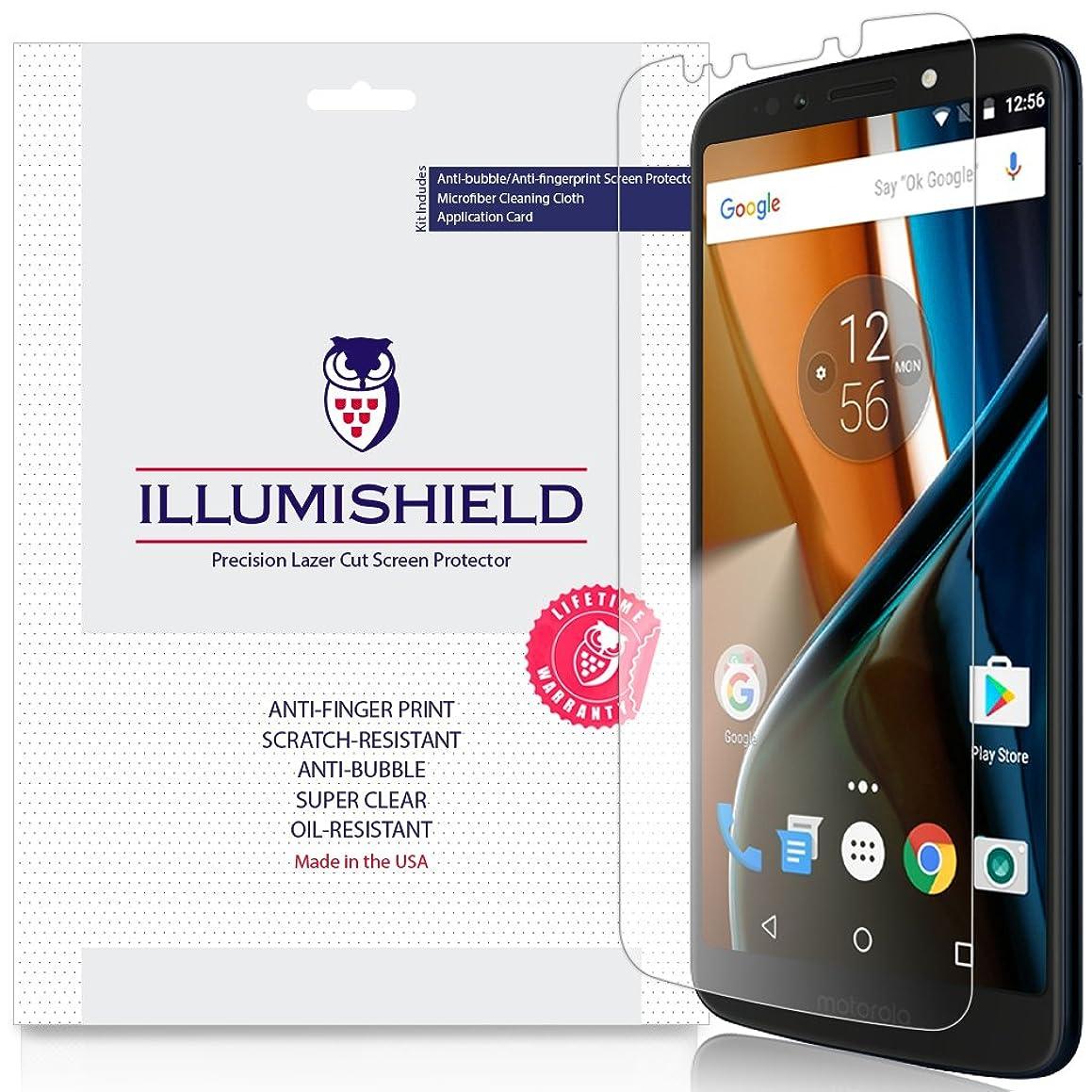Moto G6 Play Screen Protector [3-Pack], iLLumiShield Screen Protector for Moto G6 Play Clear HD Shield with Anti-Bubble & Anti-Fingerprint Film