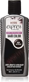 Kiss Express Color #K99 Semi- Permanent Jet Black 3.5oz (2 Pack)