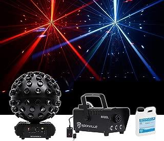 Chauvet DJ Rotosphere Q3 Mirror Ball Dance Floor LED Effect Light + Fog Machine